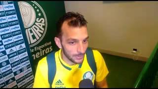 PALMEIRAS 4x0 FIGUEIRENSE - EDU DRACENA após o jogo em entrevista