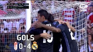 Gols - Granada 0 x 4 Real Madrid - 36ª Rodada La Liga 2016-2017 - 06/05/2017Narração: Nivaldo Prieto, Comentários: Fábio Sormani e Carlos SimonEstádio: Nuevo los Cármenes