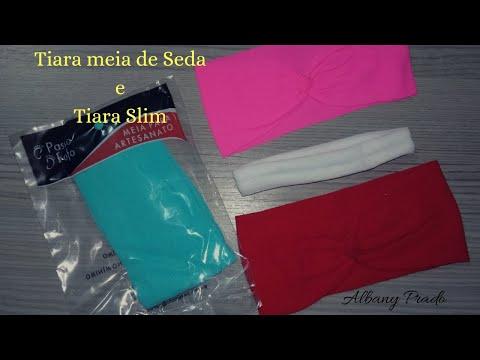 Tiara de meia de seda