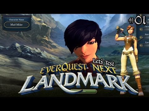 Everquest Next Landmark #01 ★ Erste Schritte – Charakterstark! ★ Let's Voxel Test | HD+ | Deutsch