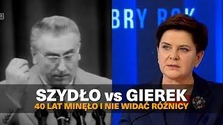 Szydło vs Gierek.