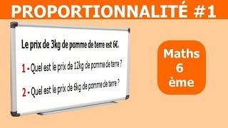 Maths 6ème - La proportionnalité 1 Exercice 10