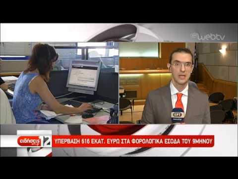 Υπέρβαση 193 εκατ. ευρώ στα φορολογικά έσοδα Σεπτεμβρίου | 15/10/2019 | ΕΡΤ