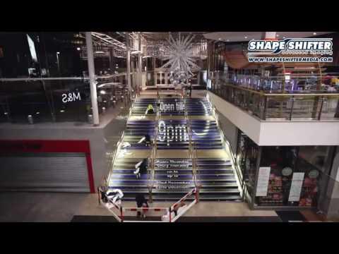 treppenwerbung Treppenwerbung Installation Einkaufszentrum
