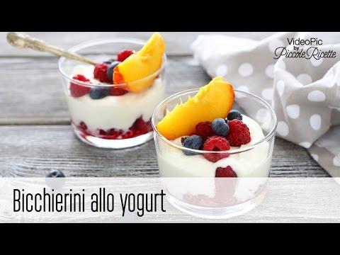 bicchierini allo yogurt - ricetta