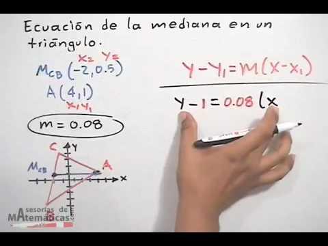 Gleichung des Medians in einem Dreieck - analytische Geometrie (PART 1/2)