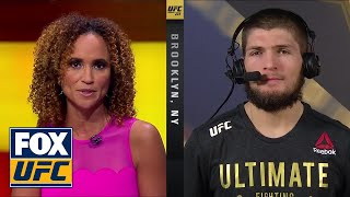 Video Khabib Nurmagomedov talks to the UFC on FOX crew | INTERVIEW | UFC 223 MP3, 3GP, MP4, WEBM, AVI, FLV Februari 2019