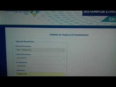 Paso 2: Como obtener,  Acta de Permiso Extraordinario Provisional - (Venezolanos Migraciones Perú)