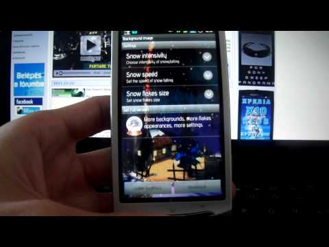 how to set wallpaper in xperia neo l