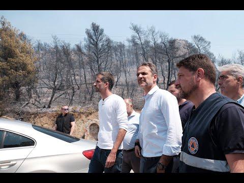 Στην Εύβοια ο πρωθυπουργός, Κυριάκος Μητσοτάκης