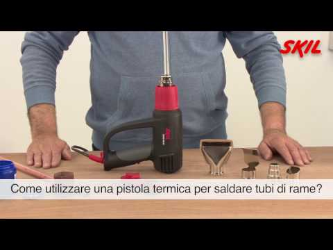 Come utilizzare una pistola termica per saldare tubi di rame?
