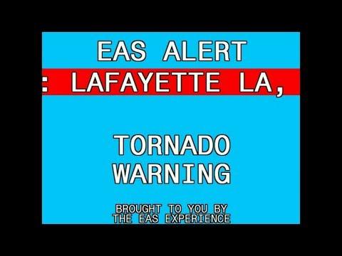 Tornado Warning: Lafayette, LA || 4-14-18