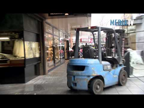 Ramkraak met heftruck bij Rotterdamse juwelier