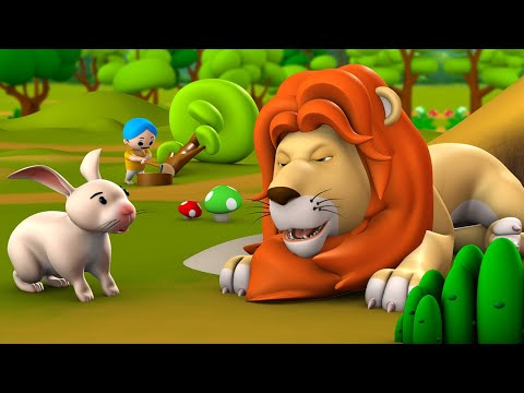 Alsi Raja Sher 3D Animated Hindi Moral Stories for Kids आलसी राजा शेर कहानी Tales Lazy Lion Stories