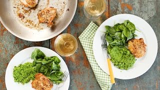 Chicken With Spinach and Herbed Pea Puree- Everyday Food with Sarah Carey by Everyday Food