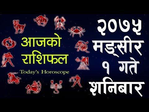 (Aajako Rashifal 2075 Mangsir ,Today's Horoscope November 17, Saturday २०७५ मंसिर १  गते  शनिबार - Duration: 10 minutes.)