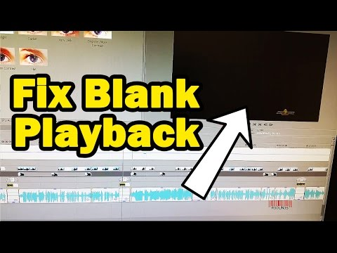 Sony Vegas Blank Screen During Playback Fix