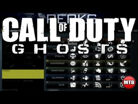 "Call Of Duty: Ghosts Multiplayer ""PERKS LIST & NAMES"" + Best Perks"