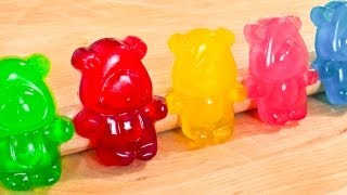 How To Make Gummy Bears - Regular AND SOUR - Video Recipe