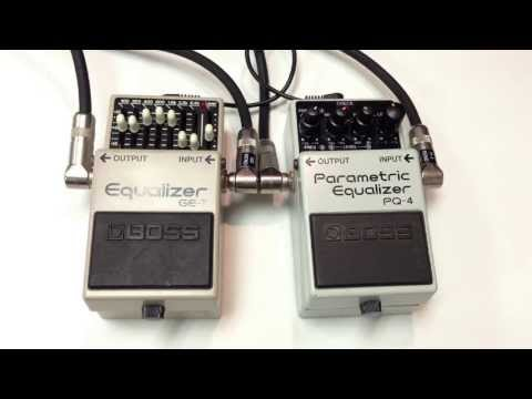 Boss GE-7 Graphic Equalizer vs Boss PQ-4 Parametric Equalizer