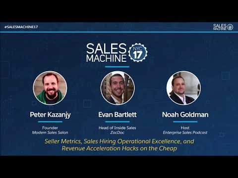 Seller Metrics, Sales Hiring Operational Excellence, and Revenue Acceleration Hacks on the Cheap