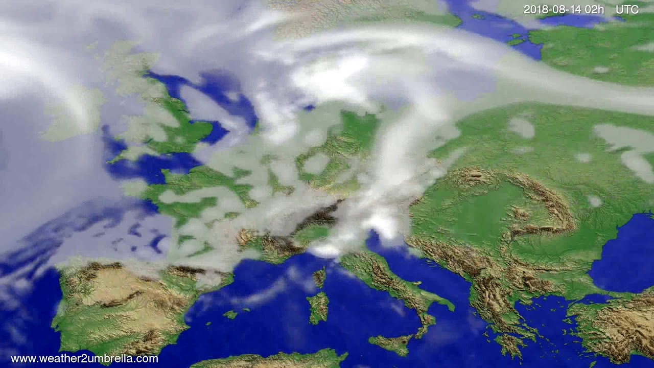 Cloud forecast Europe 2018-08-10