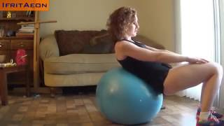 Exercise video with the Blue Ball.