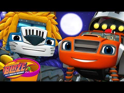 Monster Machine Halloween Party 🎃 w/ Blaze! | Blaze and the Monster Machines
