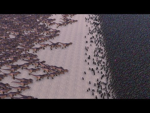 3000 TREXES vs 20000 JEDI Ultimate Epic Battle