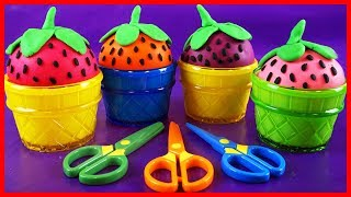 Video Play Doh Strawberry Ice Cream Cups Learn Numbers,PJ Masks Toys & Kinder Surprise Eggs MP3, 3GP, MP4, WEBM, AVI, FLV Juni 2019