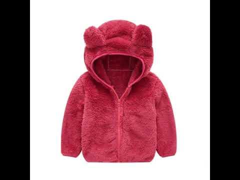 Детская одежда для мальчиков и девочек куртка пальто однотонный просто… видео