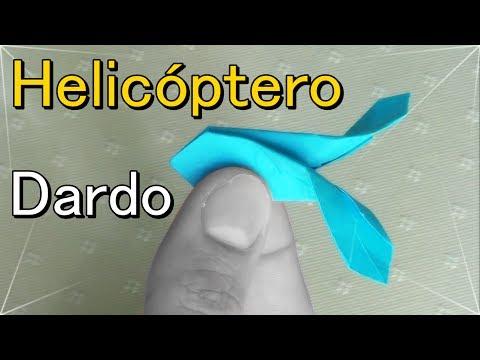 Dardo Volador Helicoptero Origami