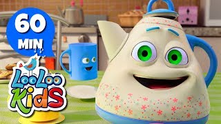 """Subscribe to our channel because new videos are uploaded every week! http://bit.ly/Subscribe_to_LooLooKidsYou are watching """"I'm a Little Teapot"""", a super fun compilation with the best animated nursery rhymes created by LooLoo Kids and Hello Mr. Freckles!Follow us on Facebook for new updates! https://www.facebook.com/LooLooKids/Tweet to us! https://twitter.com/loolookidsWe are always happy to hear from you! Please share your feedback on our nursery rhymes in the comments or through our social media!Go to your favorite song by selecting a title below!0:00 I'm a Little Teapot 1:14 Twinkle, Twinkle, Little Star (Hello Mr. Freckles!) 3:43 Bingo (Hello Mr. Freckles!) 6:07 Old MacDonald Had a Farm (Hello Mr. Freckles!) 7:25 Five Little Ducks (Hello Mr. Freckles!) 9:47 Head, Shoulders, Knees and Toes (Hello Mr. Freckles!) 11:48 Pat-a-Cake 12:45 If You're Happy and You Know It 14:25 Rain, Rain, Go Away 16:40 Five Little Monkeys 18:53 Sleeping Bunnies 20:44 The ABC Song 22:02 Old MacDonald Had a Farm 23:21 Baa, Baa, Black Sheep 24:31 Hickory Dickory Dock 26:56 The Wheels On The Bus (Hello Mr. Freckles!) 29:03 Humpty Dumpty 30:17 Ten in a Bed 32:44 BINGO 34:41 Five Little Ducks  36:15 Itsy Bitsy Spider (Hello Mr. Freckles!) 38:03 Head, Shoulders, Knees and Toes 39:30 Johny Johny Yes Papa 41:00 Mary Had a Little Lamb 43:10 Row Your Boat (Hello Mr. Freckles!) 45:11 Miss Polly Had a Dolly 46:32 Once I Caught a Fish Alive 48:31 One, Two, Buckle My Shoe 49:29 If You're Happy and You Know It (Hello Mr. Freckles!) 51:30 The Finger Family 52:32 The Wheels On The Bus 54:37 Three Little Kittens 56:56 Twinkle, Twinkle, Little StarI'm a Little Teapot LyricsI'm a little teapotShort and stoutHere's my handleAnd here's my spoutWhen I get all steamed upHear me shout:""""Just tip me over and pour me out!""""I'm a clever teapotYes, it's trueHere's an example of what I can doI can change my handle into a spoutTip me over and pour me out!I'm a little teapotShort and stoutHere's my handleAnd here's my s"""