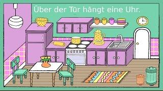 Deutsch lernen: In der Küche - Dativ + Präpositionen - Germa...