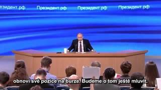 Velká tisková konference Vladimira Putina 18.12.2014 druhá část