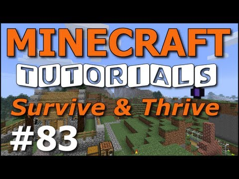 Minecraft Tutorials – E83 Charming Horse Stable (Survive and Thrive Season 6)