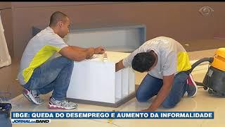 Dados do IBGE revelam queda do desemprego no segundo trimestre e aumento do mercado informal.