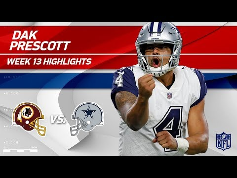 Video: Dak Prescott Helps Get the Win w/ 2 TDs vs. Washington! | Redskins vs. Cowboys | Wk 13 Player HLs