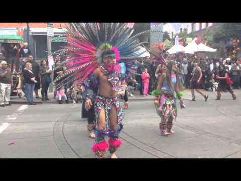 Dia De Los Muertos Aztec Dancers, Oakland CA 11.8.15