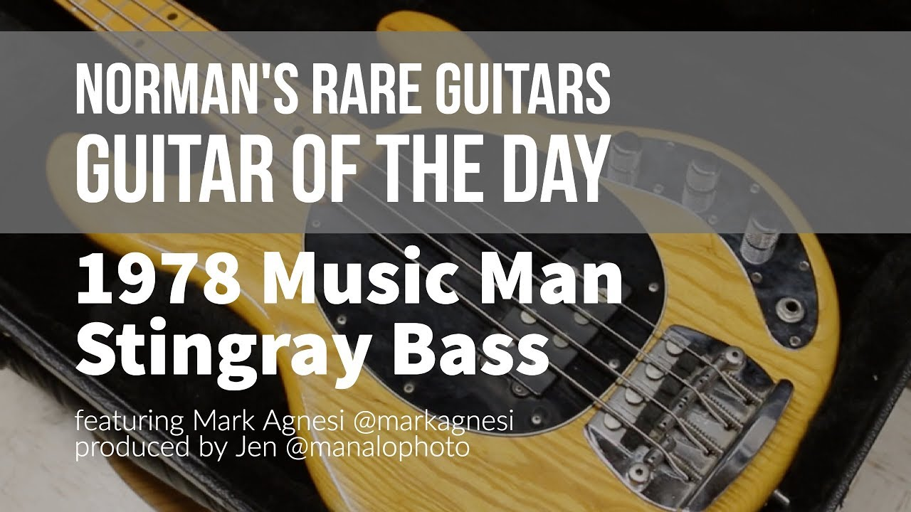 Norman's Rare Guitars – Guitar of the Day: 1978 Music Man Stingray Bass