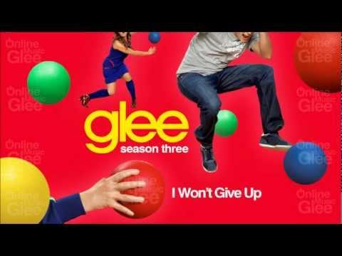 Tekst piosenki Glee Cast - I won't Give up po polsku