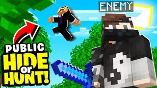 i HUNTED my BIGGEST Minecraft enemy and he didn't know.. (Hide Or Hunt)