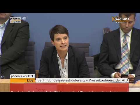 Pressekonferenz der AfD nach der Bundestagswahl 2017 /  ...