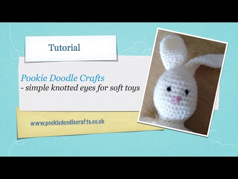 Simple Knotted Eyes for Soft Toys and Amigurumi - Tutorial