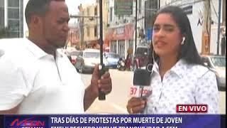 Tras días de protestas por muerte de joven Emely Peguero vuelve tranquilidad a SFM