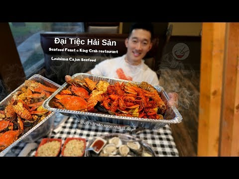 Đi Ăn 10 Loại Hải Sản | Seafood Feast at King Crab Restaurant - Thời lượng: 21 phút.
