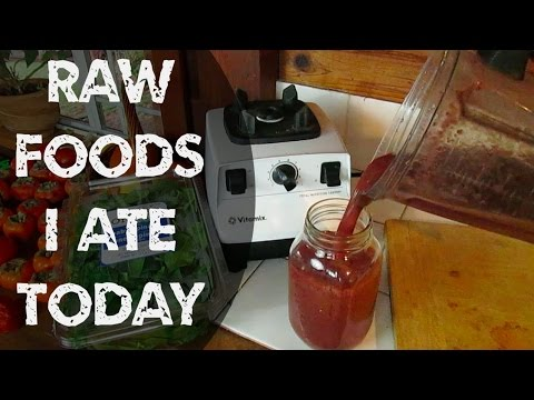 What I Ate Today On My Raw Food Diet | 40BelowFruity