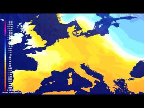 Temperature forecast Europe 2015-10-05