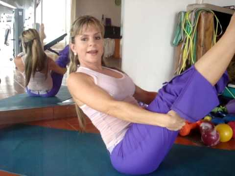Monica Sancio Fitness EXCELENTES ABDOMINALES DE PILATES Yoga Pilates Flow.MPG