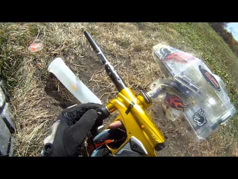 gopro hd hero paintball test footage largest paintball battle living